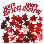 2/3 OZ. CONFETTI - BIRTHDAY & STARS RED (24 PACKS) PF-2759