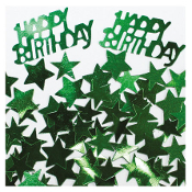 2/3 OZ. CONFETTI - BIRTHDAY & STARS GREEN (24 PACKS) PF-2761