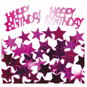 2/3 OZ. CONFETTI - BIRTHDAY & STARS MAGENTA (24 PACKS) PF-2763