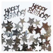 2/3 OZ. CONFETTI - BIRTHDAY & STARS SILVER (24 PACKS) PF-2764