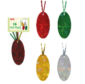 16 GIFT TAGS WITH TWIST TIE - SOLID COLOR (24 PACKS) PF-2769