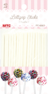 "40 PCS 4"" LOLLIPOP STICKS (24 PACKS) PF-6967"