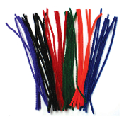 50 PC CHENILLE STEMS - BRIGHT ASSORTED (24 PACKS) PF-2793