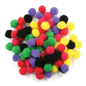 "80 PC 1"" POM-POMS - BRIGHT ASSORT (24 PACKS) PF-2817"