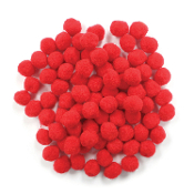 "80 PC 1"" POM-POMS - RED (24 PACKS) PF-2819"