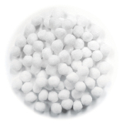 "80 PC 1"" POM-POMS - WHITE (24 PACKS) PF-2820"
