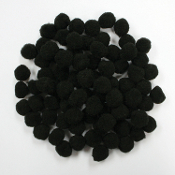 "80 PC 1"" POM-POMS - BLACK (24 PACKS) PF-2821"