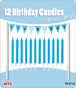 12 CANDLES W/ MINI FLAGS - IT'S A BOY (24 PCS) PF-2716