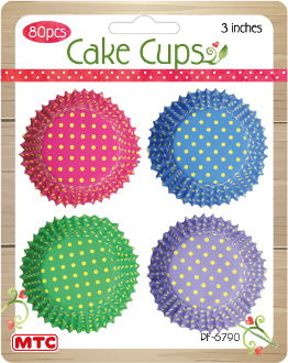 "80 PCS 3"" BRIGHT DOT CAKE CUPS (24 PACKS) PF-6790"