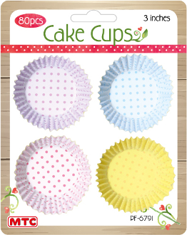 "80 PCS 3"" PASTEL DOT CAKE CUPS (24 PACKS) PF-6791"