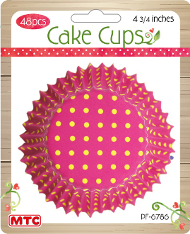 "48 PCS 4.75"" BRIGHT DOT CAKE CUPS (24 PACKS) PF-6786"