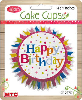 "48 PCS 4.75"" HAPPY BIRTHDAY CAKE CUPS (24 PACKS) PF-2770"