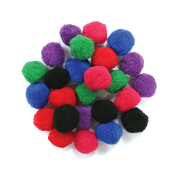 "25 PC 1.5"" POM-POMS - BRIGHT ASSORT (24 PACKS) PF-3058"