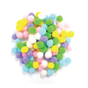 "100 PC 0.75"" POM-POMS - PASTEL ASSORT (24 PACKS) PF-3055"