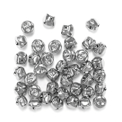 40 PC SILVER BELLS - 1.5 CM (24 PACKS) PF-2875