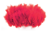 "0.36 OZ 5""-7"" TURKEY FEATHER - RED (24 PACKS) PF-3073"