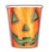 SALE! PUMPKIN FACE - 8 PCS 9 OZ CUPS (48 PACKS) PF-14500