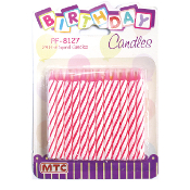 24 PINK SPIRAL CANDLES (24 PACKS) PF-8127