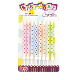 "8 PCS 4"" POLKADOT CANDLES W/ HOLDER - ASSORTED (24 PCS) PF-6634"