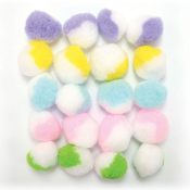 "20 PC 1.5"" 2-TONE POM-POMS - PASTEL ASSORT (24 PACKS) PF-3384"