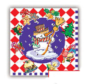 SALE! 16 PCS LUNCH NAPKIN - HOLIDAY SNOWMAN (48 PACKS) PF-14902