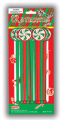 SALE! 12 PCS XMAS STIRRERS W/ LASER STICKERS (48 PACKS) PF-7174