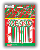 SALE! 20 PCS XMAS PICKS W/ LASER STICKERS (48 PACKS) PF-7173