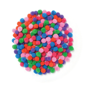 "200 PC 0.5"" POM-POMS - ASSORTED (24 PACKS) PF-3517"