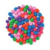 "100 PC 0.75"" POM-POMS - ASSORTED (24 PACKS) PF-3518"