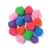 "15 PC 2"" POM-POMS - ASSORTED (24 PACKS) PF-3521"
