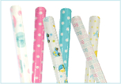 "BABY SHOWER WRAPPING PAPER ASSORTED 30""X60"" (72 ROLLS) PF-3397"