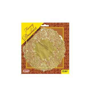 "12 PC. 6.5"" GOLD DOILIES (24 PACKS) PF-8557"