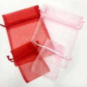 4 PC POUCHES, 2 MED & 2 SMALL - RED/PINK (24 PACKS) PF-3728