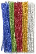 "100 PCS 3.5"" TWIST TIES MULTI COLORS (24 PACKS) PF-2294"