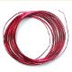 8 M X 1 MM CRAFT WIRE - RED (24 PACKS) PF-3817