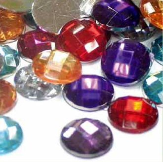 24 PC 20 MM RHINESTONES - ASSORTED COLORS (24 PACKS) PF-3780