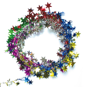 25 FT WIRE STAR GARLAND - MULTI (24 PACKS) PF-3784