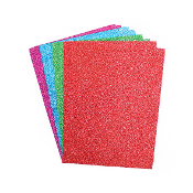 "8 PC 6""X8"" GLITTERED EVA SHEET - ASST. COLORS (24 PACKS) PF-3827"