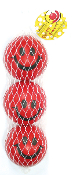 "3 PC 2"" RED SMILEY BALL (24 PCS) PF-3887"