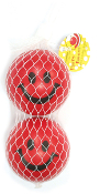 "2 PC 2.5"" RED SMILEY BALL (24 PCS) PF-3892"