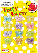 12 IRIDESCENT BUTTERFLY RINGS (24 PCS) PF-1294