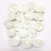 18 PCS 4 CM FOAM ROSES - WHITE (24 PACKS) PF-4215