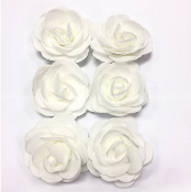 6 PCS 5 CM FOAM ROSES - WHITE (24 PACKS) PF-4219