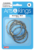6 PC 5 CM BOOK RINGS (24 PACKS) PF-4026