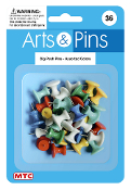 36 PC BIG PUSH PINS - ASSORTED (24 PACKS) PF-4111