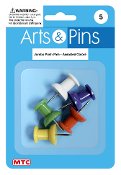 5 PC JUMBO PUSH PINS - ASSORTED (24 PACKS) PF-4112