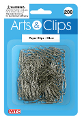 200 PC PAPER CLIPS - SILVER (24 PACKS) PF-3963