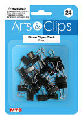 24 PC 1.5 CM BINDER CLIPS - BLACK (24 PACKS) PF-4016