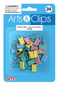 20 PC 1.5 CM BINDER CLIPS - ASSORTED COLORS (24 PACKS) PF-4017