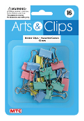 16 PC 2 CM BINDER CLIPS - ASSORTED COLOR (24 PACKS) PF-4019
